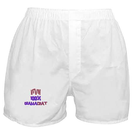Kevin - 100% Obamacrat Boxer Shorts