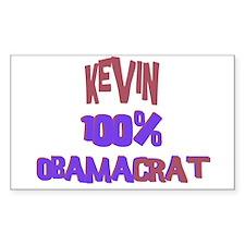 Kevin - 100% Obamacrat Rectangle Decal