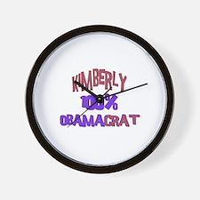 Kimberly - 100% Obamacrat Wall Clock
