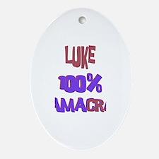 Luke - 100% Obamacrat Oval Ornament