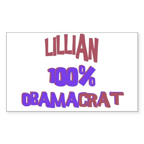Lillian - 100% Obamacrat Rectangle Sticker