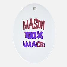 Mason - 100% Obamacrat Oval Ornament