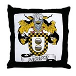Pacheco Family Crest Throw Pillow