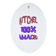 Mitchell - 100% Obamacrat Oval Ornament