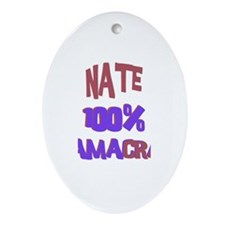 Nate - 100% Obamacrat Oval Ornament