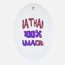 Nathan - 100% Obamacrat Oval Ornament
