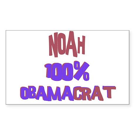 Noah - 100% Obamacrat Rectangle Sticker