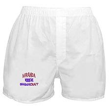 Miranda - 100% Obamacrat Boxer Shorts