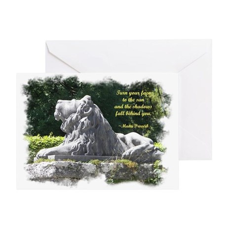 Lion in the Light Greeting Card