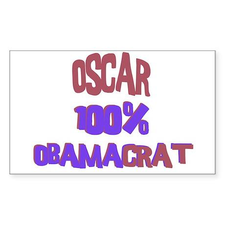 Oscar - 100% Obamacrat Rectangle Sticker