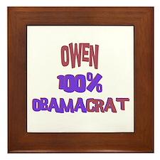 Owen - 100% Obamacrat Framed Tile