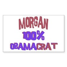Morgan - 100% Obamacrat Rectangle Decal