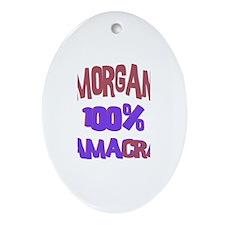 Morgan - 100% Obamacrat Oval Ornament