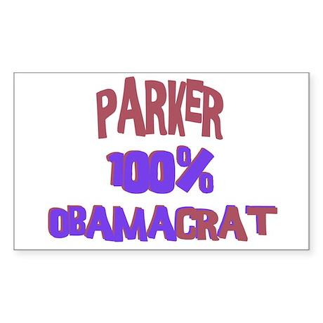 Parker - 100% Obamacrat Rectangle Sticker