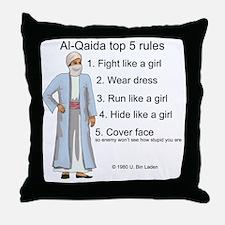 Al-Qaida rules of engagement Throw Pillow