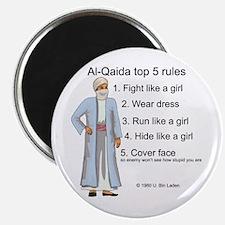 """Al-Qaida rules of engagement 2.25"""" Magnet (10 pack"""