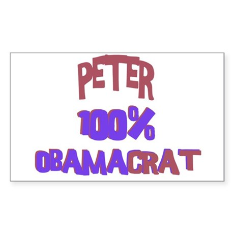 Peter - 100% Obamacrat Rectangle Sticker