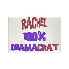 Rachel - 100% Obamacrat Rectangle Magnet
