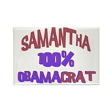 Samantha - 100% Obamacrat Rectangle Magnet