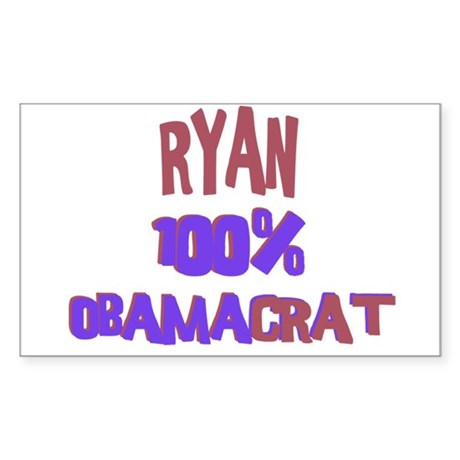 Ryan - 100% Obamacrat Rectangle Sticker