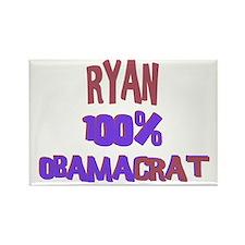 Ryan - 100% Obamacrat Rectangle Magnet