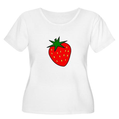Cute Strawberry Women's Plus Size Scoop Neck T-Shi