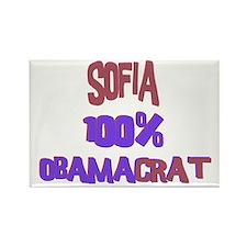 Sofia - 100% Obamacrat Rectangle Magnet