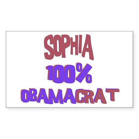 Sophia - 100% Obamacrat Rectangle Sticker