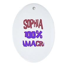 Sophia - 100% Obamacrat Oval Ornament