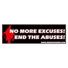End The Abuses Bumper Bumper Sticker
