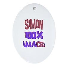 Simon - 100% Obamacrat Oval Ornament