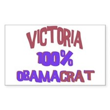 Victoria - 100% Obamacrat Rectangle Decal
