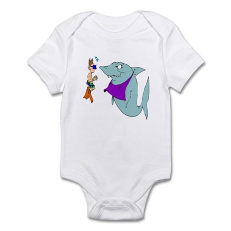 1662 Shark & Swimmer Infant Bodysuit