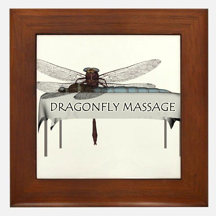 Dragonfly Massage Framed Tile