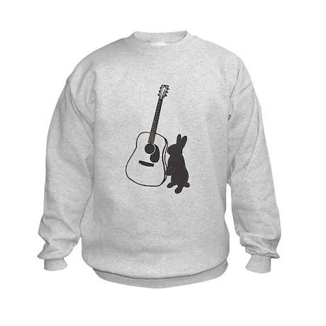 bunny & guitar Kids Sweatshirt