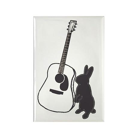 bunny & guitar Rectangle Magnet