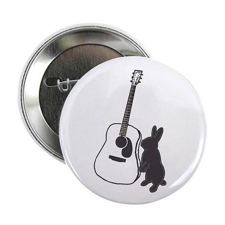 """bunny & guitar 2.25"""" Button"""