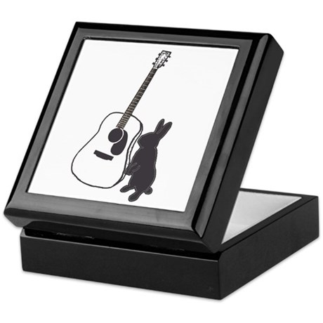 bunny & guitar Keepsake Box