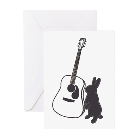bunny & guitar Greeting Card