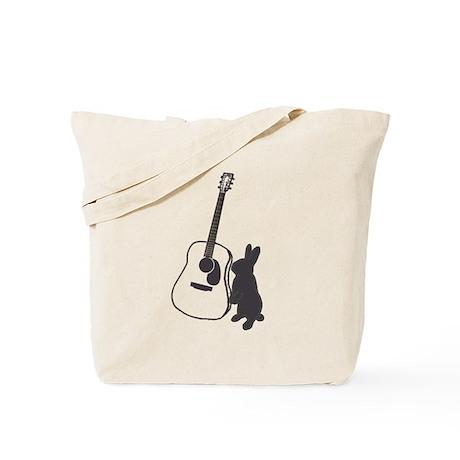 bunny & guitar Tote Bag