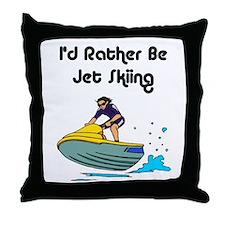 1590 I'd Rather be Jet Skiing Throw Pillow