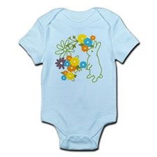 flower bunny Infant Bodysuit