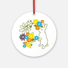 flower bunny Ornament (Round)