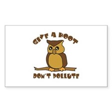 Give a Hoot Rectangle Decal