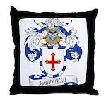 Pantoja Family Crest Throw Pillow