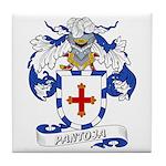 Pantoja Family Crest Tile Coaster
