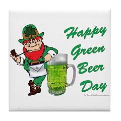 Green Beer Tile Coaster