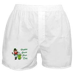 Green Beer Boxer Shorts