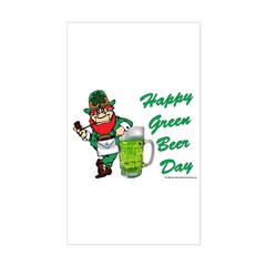 Green Beer Rectangle Decal