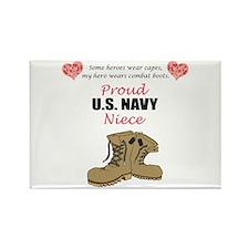 Proud US Navy Niece Rectangle Magnet